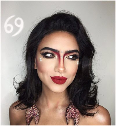 Образ Рак - профессиональный макияж