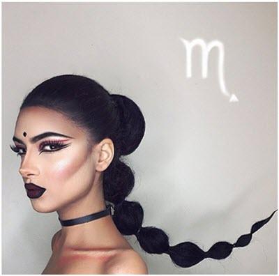 Образ Скорпион - профессиональный макияж