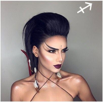 Образ Стрелец - профессиональный макияж