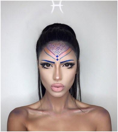 Образ Рыбы - профессиональный макияж